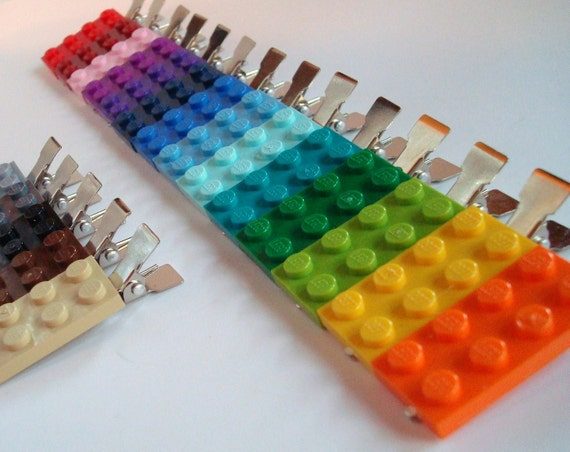 Hair Clips set of 3 made with LEGO®plate your choice of colors