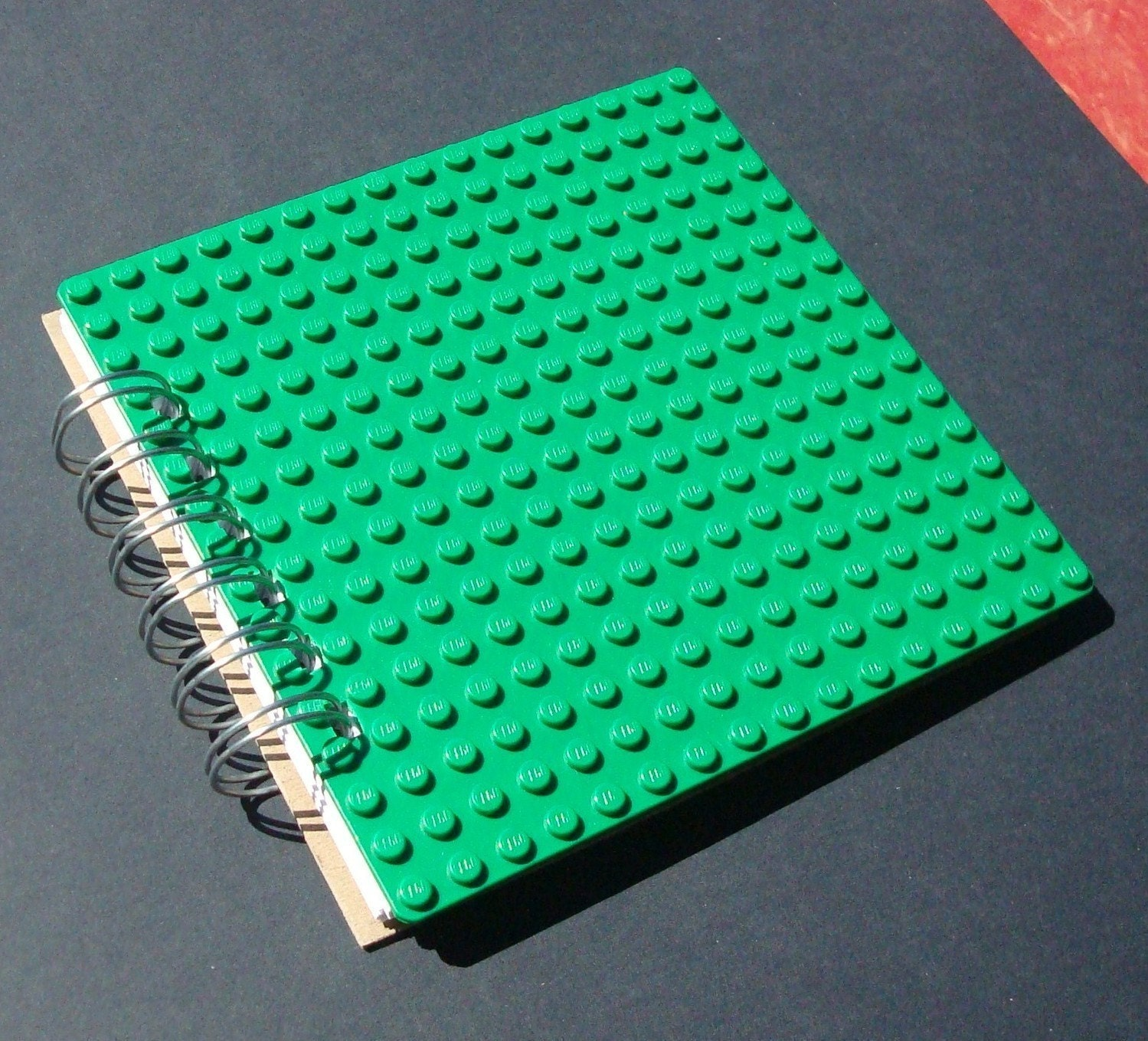 Journal spiral bound notebook made with GREEN LEGO® plate