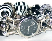 Changeable Watch Band White and Black Zebra