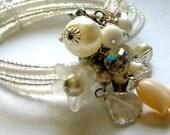 Corsage Bracelet White