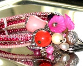 Corsage Bracelet Pinks
