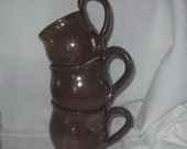 Three Cups of Tea - Coffee - Espresso - Gluhwein - Glögg - Set of 3 -Handmade Pottery by The Wheel and I