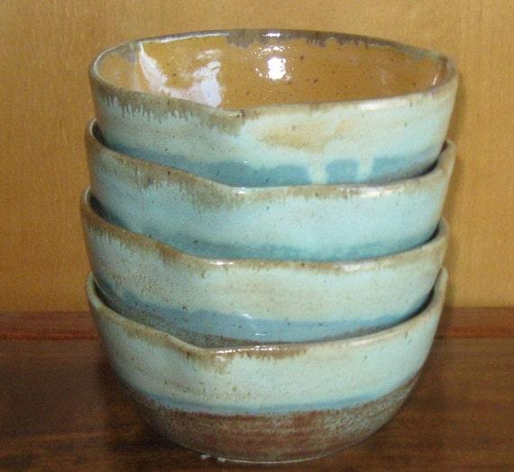 4 Ceramics and Pottery Bowls - Set of Four Bowls - Handmade Pottery
