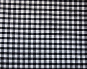 black and white cotton gingham