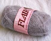 4 balls of grey mohair yarn