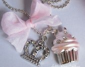 Cupcake Princess Necklace by Chic Baby Rose