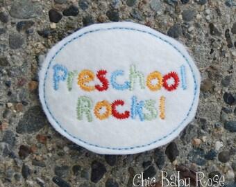 Preschool Rocks Wool Felt Hair Clip by Chic Baby Rose