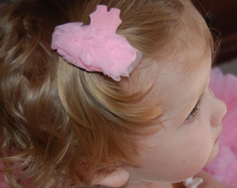 Fluffy Ballerina Wool Felt Clip in 21 Colors by Chic Baby Rose