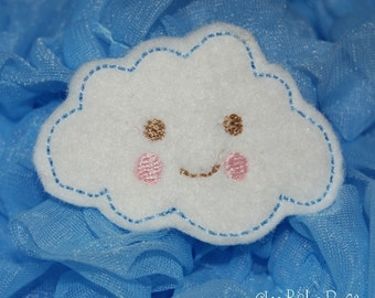 Sweet Fluffy Cloud Wool Felt Hair Clip by Chic Baby Rose