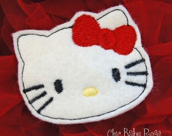 Wool Felt Kitty Clip by Chic Baby Rose