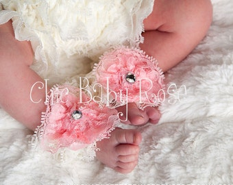Petti Toes a Chic Baby Rose Original Great Photography Prop