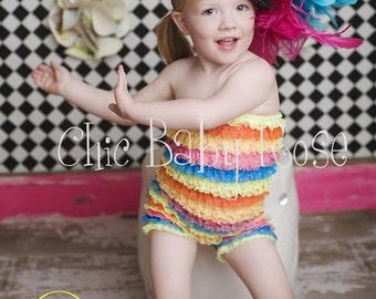 50% OFF The Original Petti Romper Big Girl Multi Color By Chic Baby Rose