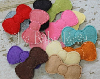 Plain Jane Bow Wool Felt Snap Clip by Chic Baby Rose