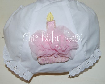 Fluffy Birthday Cupcake Bloomer by Chic Baby Rose
