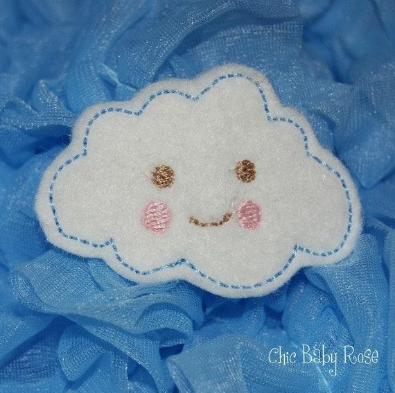 Sweet Fluffy Cloud Wool Felt Hair Clip by Chic Baby Rose