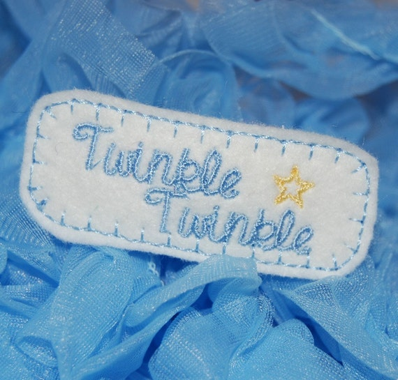 Twinkle Twinkle Nursery Rhyme Wool Felt Hair Clip by Chic Baby Rose