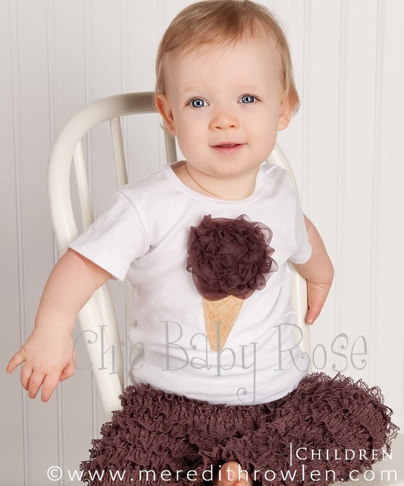Fluffy Ice Cream Tank, Tee or Long Sleeve Petti Top by Chic Baby Rose