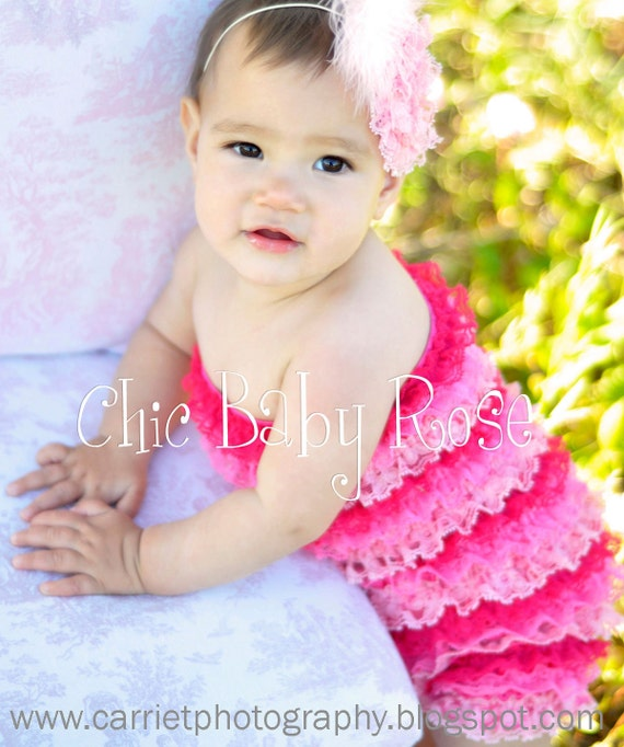 50% OFF The Original Multi Color Toddler  Petti Romper by Chic Baby Rose in 7 Fun Color Combos