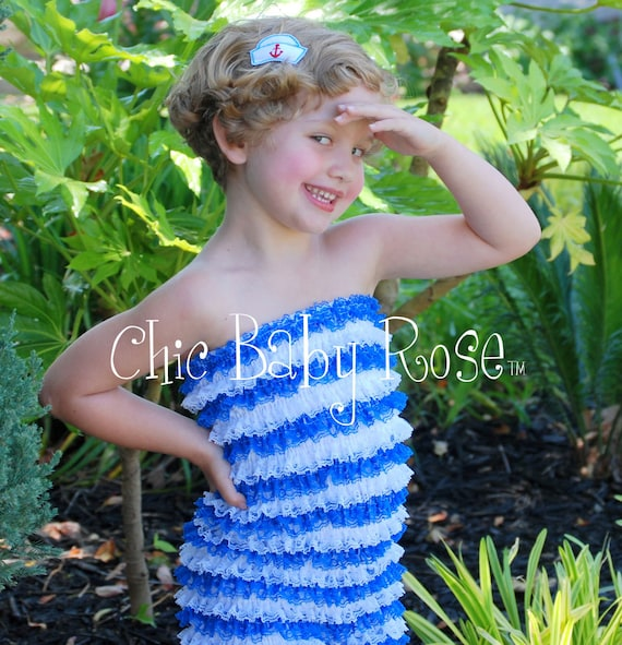 50% off Ahoy Sailor The Original Petti Romper by Chic Baby Rose Newborn to 5T