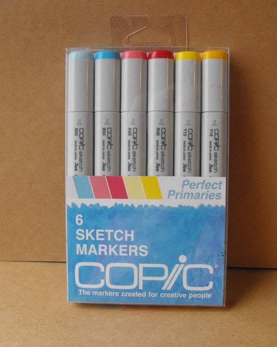 Copic Sketch Markers Primary set  for Card making Scrapbooking and Paper crafting NEW