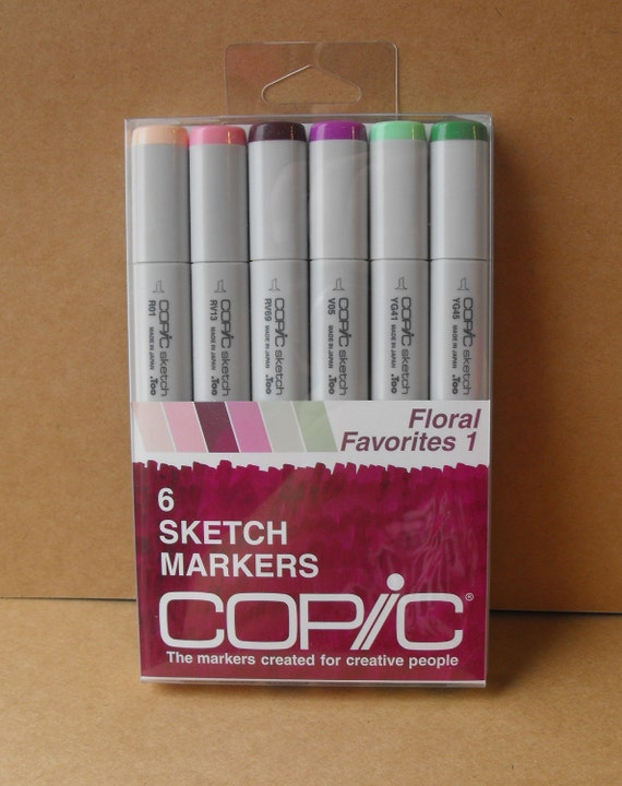 Copic Sketch Markers Floral Favorites 1 set  for Card making Scrapbooking and Paper crafting NEW