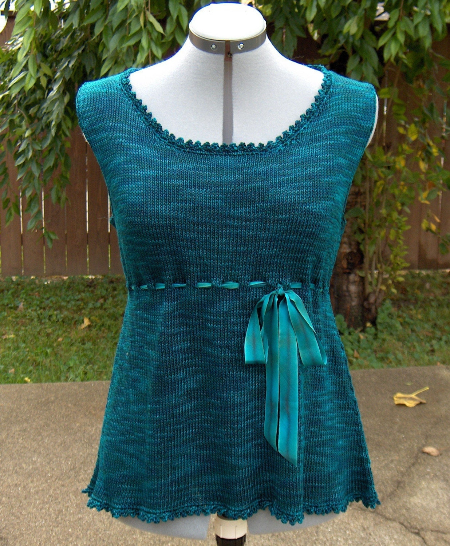 Fete Silk Top Knitting Pattern