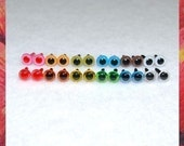 6 mm MIXED COLOR animal amigurumi plastic craft safety eyes - 12 PAIRS Sampler (6T1)