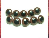 24 mm BROWN Safety eyes Amigurumi Eyes Plastic eyes for Amigurumi and Soft toys - 5 pairs