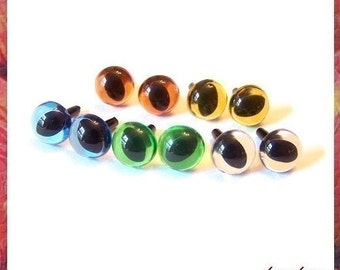 9mm Animals Amigurumi Plastic Safety Eyes 5 PAIRS - Translucent color