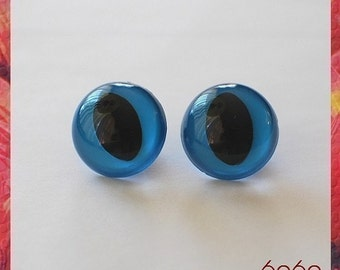 18mm Blue Plastic Eyes Cat / Fish Eyes for Amigurumi 5 pairs
