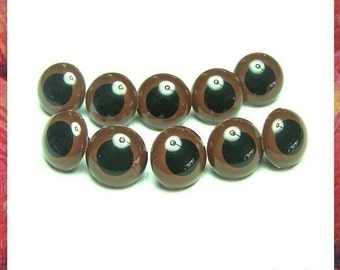 Eyes For Amigurumi : 24 mm brown safety eyes amigurumi eyes plastic eyes for