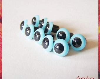 7.5 mm Light Blue safety eyes for stuffed toys - 5 PAIRS (7ltblue5)