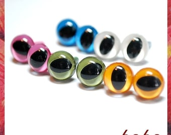 9mm Cat eyes Amigurumi eyes Plastic eyes Safety Eyes 5 PAIRS opaque ( 9C1 )