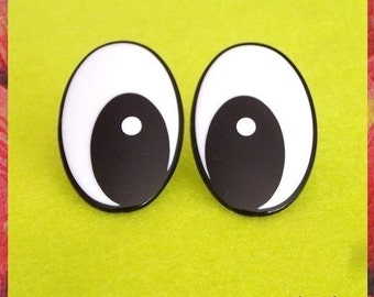 42mm Big / Comical / Amigurumi / Animal Black and White Safety eyes - 1 PAIR