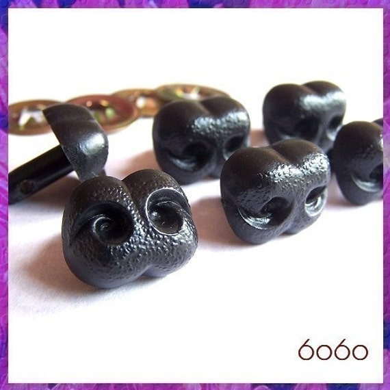 Amigurumi Dog Noses : 18 mm Black Nose Plastic Animal Amigurumi Safety Noses 6 ...