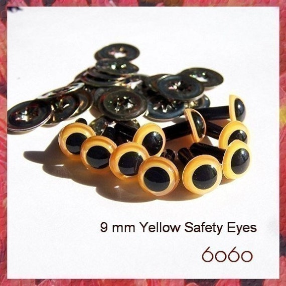 Safety Eyes Amigurumi Malaysia : 9mm Animals Amigurumi Plastic Safety Eyes 5 PAIRS YELLOW ...