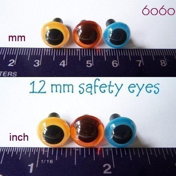 Craft Safety Eyes Amigurumi : 12 mm Plastic eyes Animal eyes Craft eyes Safety eyes ...