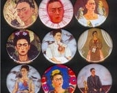 VALUE PACK SPECIAL 9 Frida Kahlo 1.5 inch MAGNET SET
