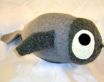 Sammy Seal - baby seal of hand-knit felted-wool