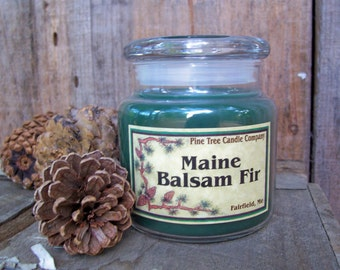 Highly Scented 16 oz Maine Balsam Fir Jar Candle