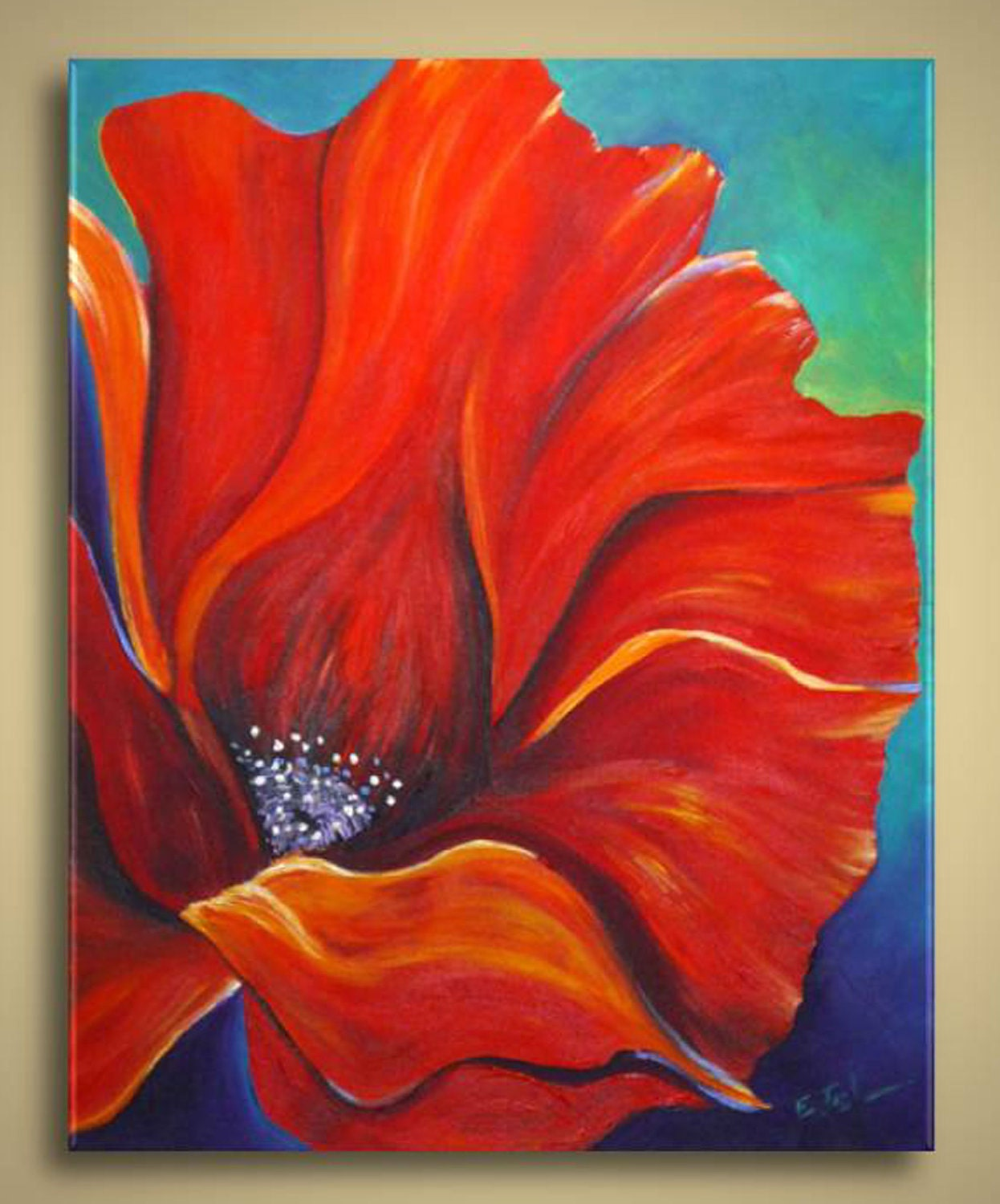 Fabulous Poppy Flower Painting Abstract 1246 x 1500 · 262 kB · jpeg