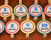 Photo Clips. Photo Banner. DIY Photo Banner. First Birthday. Polka Dots. Primary Colors.