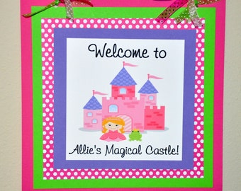 Princess Door Sign. Door Sign. Welcome Sign. Princess. Castle. Price Charming. Frog. Choose your princess