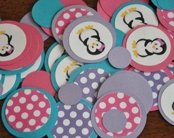 Confetti. Dots. Minis. Penguin. 125 pieces. Choose Girl or Boy