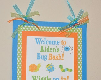 Bug Door Sign. Bug Party. Welcome Sign. Insect. Choose Boy or Girl