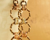 Mixed Metals Earrings - Twisted Linked Loops