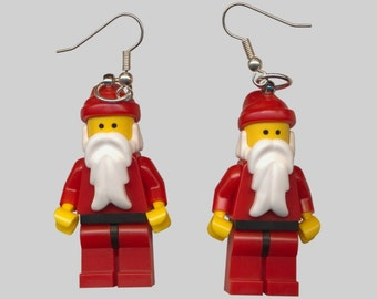 Santa Claus tomte Christmas toy earrings