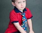 Thomas the Train Tie  Boys, Toddler Blue, White, Red