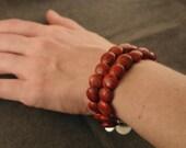 Spongy Red Bracelet