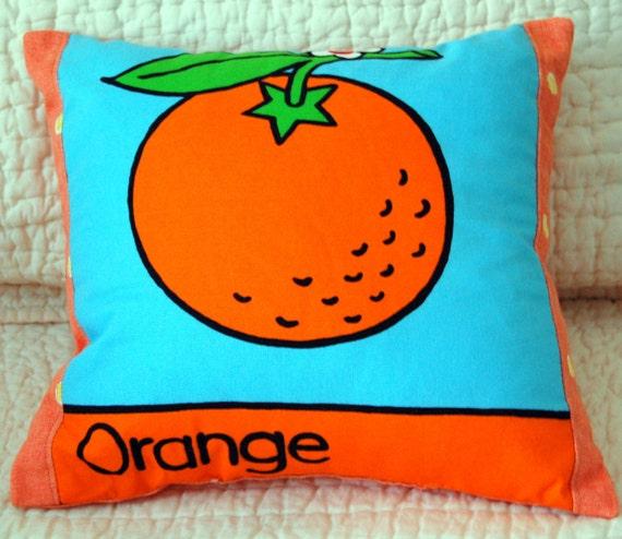 The Orange Fruit: Color Learning Pillow for Children